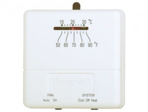Basic Low Voltage Thermostat - Honeywell T812C1000