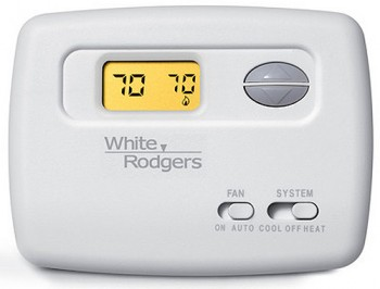 Horizontal Non-Programmable Thermostat – White Rodgers 1F78-144
