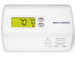 Standard Heat Pump Non-Programmable Digital Thermostat - White Rodgers 1F89-211