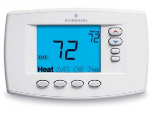 Programmable Easy Reader Blue Digital Thermostat - White Rodgers 1F95EZ-0671