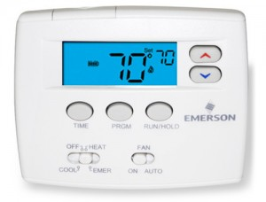 Programmable Blue Thermostat - White Rodgers 1F82-0261