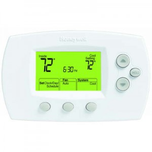 Digital 1 Heat/1 Cool Conventional Systems and Heat Pumps Programmable Thermostat - Honeywell TH6110D1005