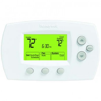 Digital 1 Heat/1 Cool Conventional Systems and Heat Pumps Programmable Thermostat – Honeywell TH6110D1005