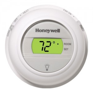 Round Digital 1 Heat/1 Cool Conventional Systems and Heat Pumps Non-Programmable Thermostat - Honeywell T8775C1005
