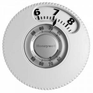 Round Mercury Free Easy to Read Thermostat - Honeywell T87N1026