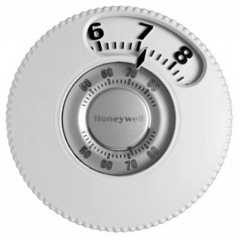 Round Mercury Free Easy to Read Thermostat – Honeywell T87N1026