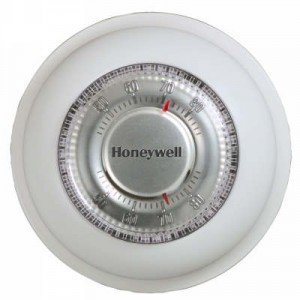 Round Mercury Free Heat Only Thermostat – Honeywell T87K1007