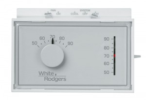 Non-Programmable 1 Heat / 1 Cool Thermostat - White Rodgers 1F56N-444