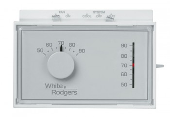 Non-Programmable 1 Heat / 1 Cool Thermostat – White Rodgers 1F56N-444