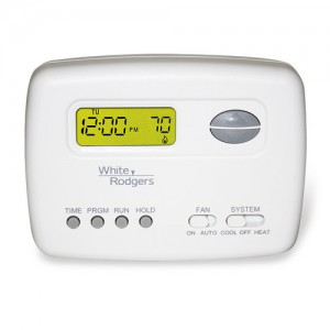Programmable (5+2) 1 Heat/1 Cool Thermostat - White-Rodgers 1F78-151